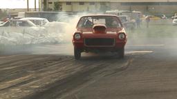 HD2009-6-21-13 chev vega burnout Stock Video Footage
