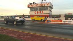 HD2009-6-21-17 street ET race Stock Video Footage