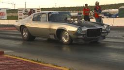 HD2009-6-21-19 street ET race Stock Video Footage