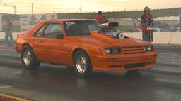 HD2009-6-21-23 orange mustang launch Stock Video Footage