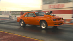 HD2009-6-21-23 orange mustang launch Stock Video Footage