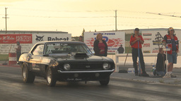 HD2009-6-21-25 old camaro launch through frame Stock Video Footage