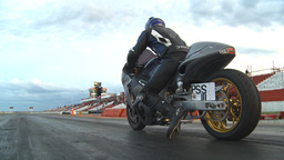 HD2009-6-21-27 drag bike launch Stock Video Footage