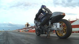HD2009-6-21-27 drag bike launch Stock Video Footage