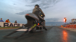 HD2009-6-21-33 dragbike launch red light Stock Video Footage