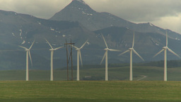 HD2009-6-22-2 Wind turbines Stock Video Footage