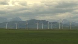 HD2009-6-22-4b Wind turbines Stock Video Footage