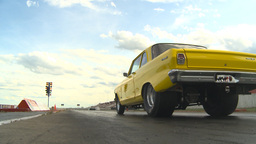 HD2009-6-22-13 motorsports, drag racing yellow nova launch Stock Video Footage