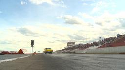 HD2009-6-22-13 motorsports, drag racing yellow nova launch Stock Video Footage