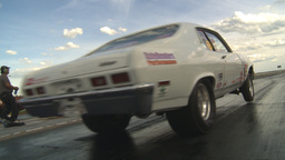 HD2009-6-22-15 motorsports, drag racing white nova launch Stock Video Footage