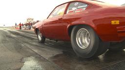 HD2009-6-22-23 motorsports, drag racing red vega burnout Stock Video Footage