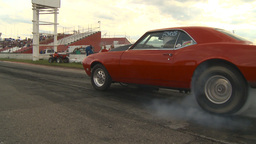 HD2009-6-22-25 motorsports, drag racing red camaro burnout Footage
