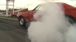 HD2009-6-22-25 motorsports, drag racing red camaro burnout Stock Video Footage