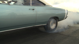 HD2009-6-22-27 motorsports, drag racing blue dodge burnout Stock Video Footage