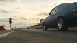 HD2009-6-22-29 motorsports, drag racing green nova launch slomo Footage