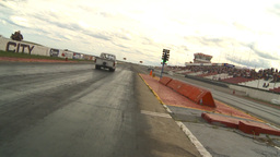 HD2009-6-22-31 motorsports, drag racing white pickup... Stock Video Footage