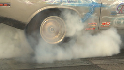 HD2009-6-22-33 motorsports, drag racing burnout slomo Stock Video Footage