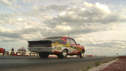 HD2009-6-22-34 motorsports, drag racing launch Stock Video Footage