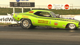 HD2009-6-22-42 motorsports, drag racing nostalgia funny... Stock Video Footage