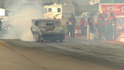HD2009-6-22-44 motorsports, drag racing nostalgia funny... Stock Video Footage