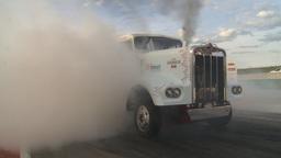 HD2009-6-22-52 motorsports, drag racing Smokin gun diesel... Stock Video Footage