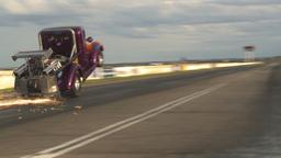 HD2009-6-22-54 motorsports, drag racing Smokin... Stock Video Footage