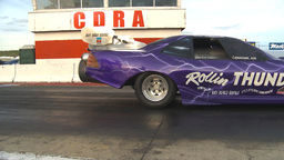 HD2009-6-22-56 motorsports, drag racing jet car launch Stock Video Footage