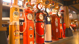 HD2009-6-23-2 Old gas pumps 3-shot Footage