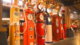 HD2009-6-23-2 Old gas pumps 3-shot Footage