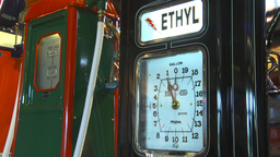 HD2009-6-23-2 Old gas pumps 3-shot Stock Video Footage