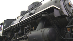 HD2009-6-23-18 old steam train montage Stock Video Footage