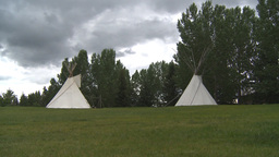 HD2009-6-24-4 Indian teepees Stock Video Footage