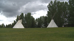 HD2009-6-24-4 Indian teepees Footage