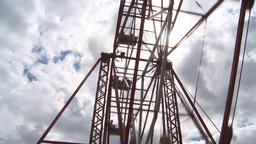 HD2009-6-24-6 old ferris wheel Footage