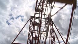 HD2009-6-24-6 old ferris wheel Stock Video Footage