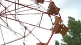 HD2009-6-24-8 Old Ferris Wheel stock footage