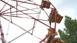 HD2009-6-24-8 old ferris wheel Footage