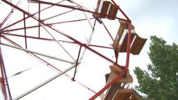 HD2009-6-24-8 old ferris wheel Stock Video Footage