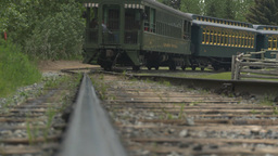 HD2009-6-24-10 Old Steam Train Along Track LL stock footage