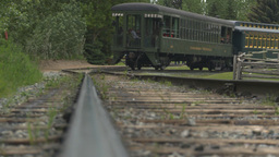 HD2009-6-24-10 old steam train along track LL Stock Video Footage