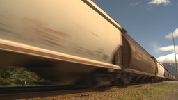 HD2009-6-22-2 fast freight train Stock Video Footage