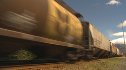 HD2009-6-22-2 fast freight train Footage