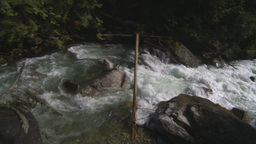 HD2009-6-22-20 wild river pan Stock Video Footage