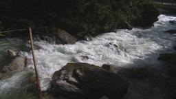 HD2009-6-22-20 wild river pan Stock Video Footage