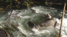 HD2009-6-22-22 wild river overhead Stock Video Footage