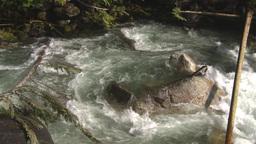 HD2009-6-22-22 wild river overhead Stock Video Footage