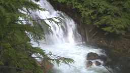 HD2009-6-22-32 crazy creek waterfall sun in out Footage