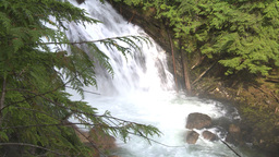 HD2009-6-22-32 crazy creek waterfall sun in out Stock Video Footage