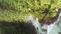 HD2009-6-22-42 VERTICAL crazy creek waterfall Stock Video Footage