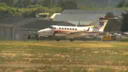 HD2009-6-26-14 air ambulance twin prop LLL Stock Video Footage